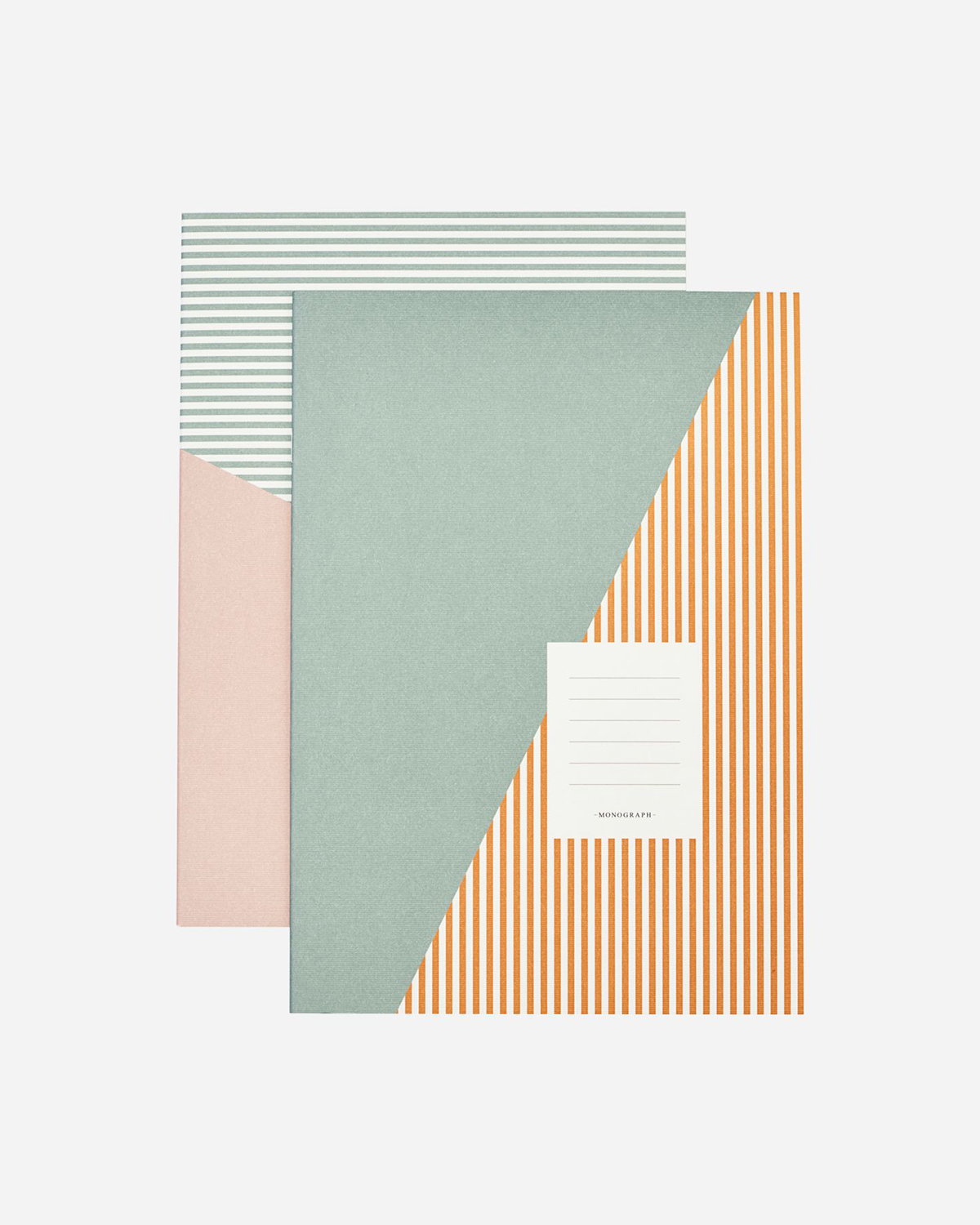 Note book, Stripes, Set of 2 designs, A4, 60 pages/blank