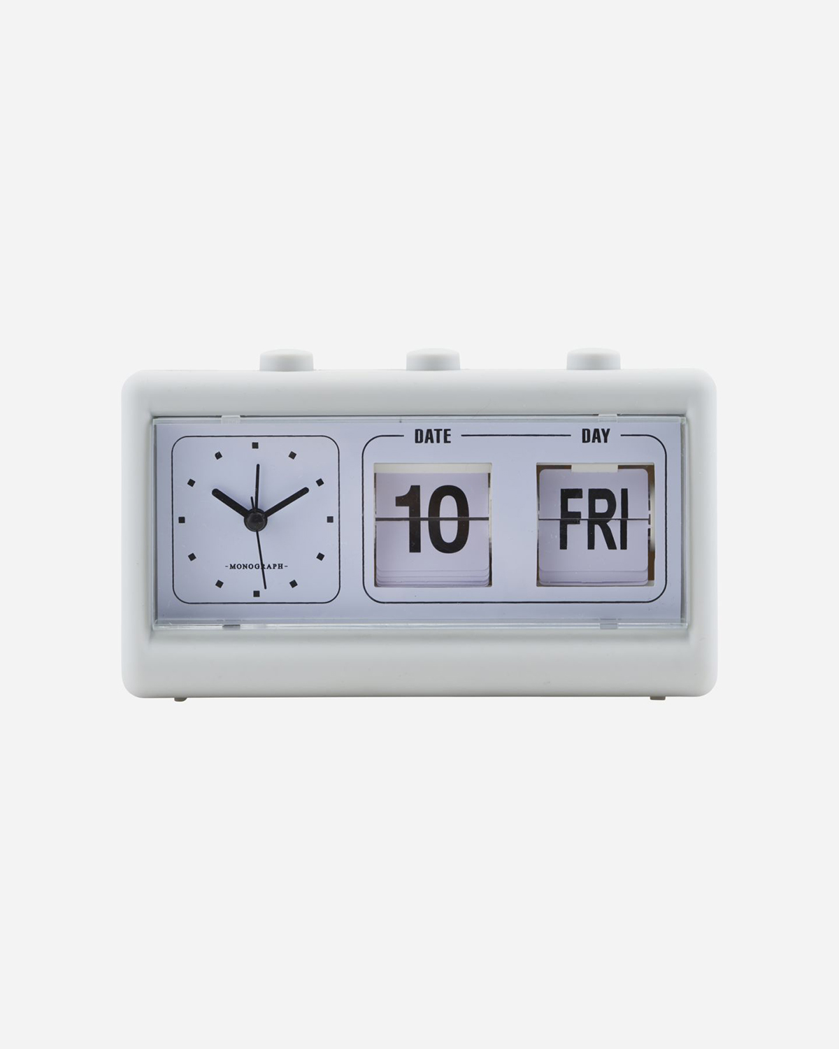 Clock, Grey, W. alarm and calendar