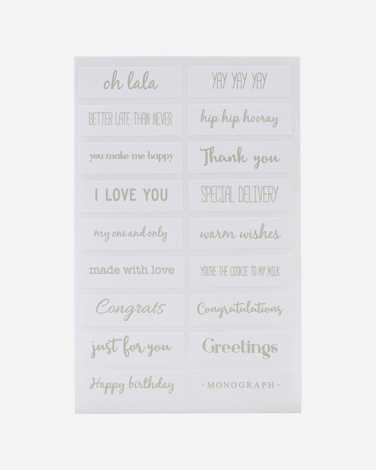 Stickers, Quotes, Silver, Pack of 6 pcs